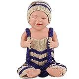 """W-BEAUTY Reborn Baby Doll 20""""48cm durmiendo Suave Silicona Realista recién Nacido bebé muñeca recién Nacido, increíblemente Realista muñeca Viva, mi bebé Falso"""