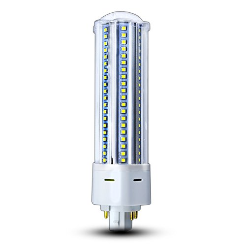 LED GX24Q/G24Q 4-Pin Base Light Bulb 22W (42W CFL/Compact Fluorescent Lamp Equivalent) GX24 LED PL-C Recessed Lamp 360 Degree Beam Angle, Remove/Bypass The Ballast, Daylight 6000K