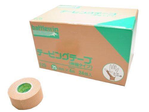 バトルウィン テーピングテープ E-タイプ(伸縮) 25mm×4m E25 24巻