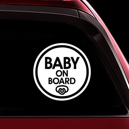 TOTOMO # ALI-023 Baby an Bord Aufkleber Aufkleber Sicherheit Vorsicht Zeichen für Auto Windows - Baby Schnuller