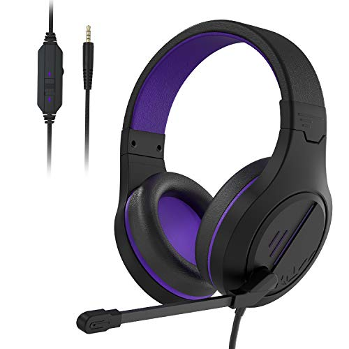 Gaming Headset Headphones MH601X Over Ear Stereo PC Gaming Headset with Microphone,Noise Canceling 3.5mm Jack Compatible with PS4 PS5 New Xbox One/Mac/PC/Computer(Upgraded)