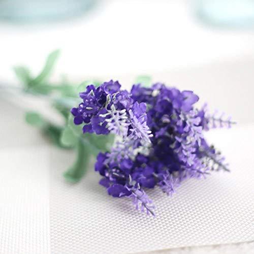 XCVB Ingemaakte kunstbloem 10 Hoofden Woondecoratie Lavendel Bloemen Zijden Kunstboeket Bruiloft Ambacht Kunstbloemen in decoratieve potten, als foto, 34cm