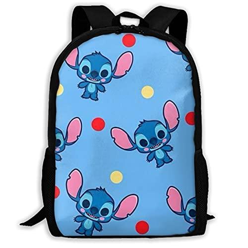 Love Stitch - Mochila para libros escolares, con hombro acolchado ajustable, para mujeres, hombres, niñas y niños