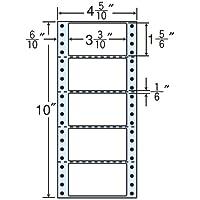 東洋印刷 タックフォームラベル 4 5/10インチ ×10インチ 5面付(1ケース1000折) MM4R