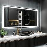 ARTTOR Espejos De Baño con Led - Espejo Pared - Decoracion Hogar - Espejos Decorativos De Pared - Muchos Tamaños - Pequeños y Grandes - M1ZD-47-90x70