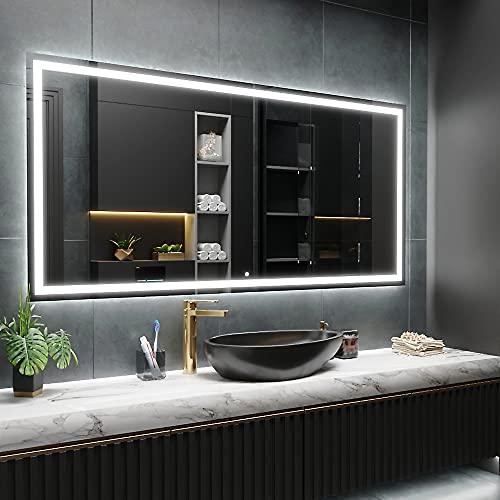 ARTTOR Espejo Baño con Luz - Espejos Pared - Decoracion Hogar - Espejos Decorativos De Pared - Muchos Tamaños - Pequeños y Grandes - M1ZD-47-60x90