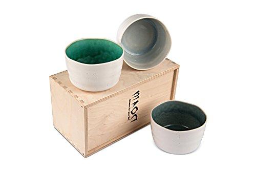 MAOCI - Matcha-Schalen/Teeschalen 3er Set Mura natur NEW EDITION