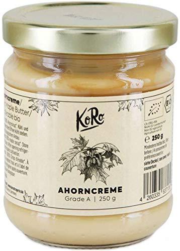 KoRo - Bio Ahorncreme 250 g - Natürlich süßer und rein pflanzlicher Brotaufstrich aus Kanada aus biologischem Anbau