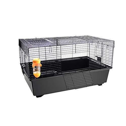 Aeon hum ハムスターケージ 大型 小動物 組立式 うさぎ 子猫 リス 幅広い 60x35x33(ブラック)