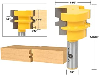 Yonico 15136 1-1/4-Inch Reversible Reversible Glue Joint Router Bit 1/2-Inch Shank