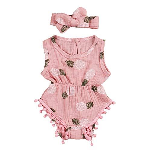 Mono para niña de verano de algodón sin mangas con cordones, vestido...
