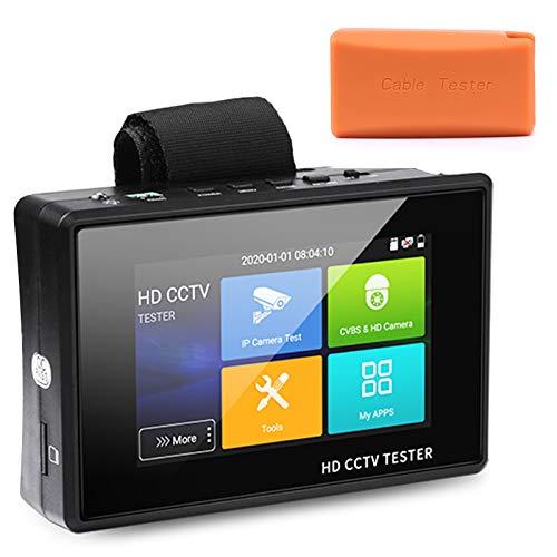 WSDCAM 4 Inch Portable Wrist IP Camera Tester CCTV Tester 4K H.265 IP CVBS CVI TVI AHD Analog Camera...