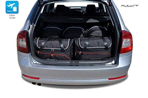KJUST Kofferraumtaschen 5 STK kompatibel mit Skoda Octavia Kombi II 2004-2013