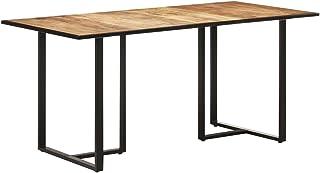 vidaXL Bois de Manguier Brut Table de Salle à Manger Table de Cuisine Table à Dîner Table de Repas Meuble de Cuisine Maiso...