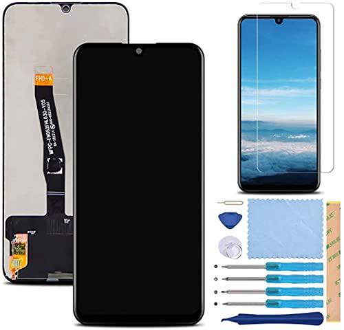 Pantalla LCD Táctil Asamblea Repuesto Compatible con Huawei P Smart 2019/2020 Versión Negro con Herramientas + Película Templada