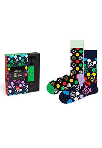 Happy Socks Disney Gift Box 2-Pack XDNY02 Unisex Geschenks-Socken, mehrfarbig, Gr. 36-40 EU