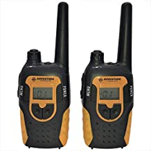 Adventure Command Walkie Talkies for Kids up to 6-Miles Long-Range Walkie Talkie Set with Belt or Holder Clips - Best for Boys, Girls, or Teens – Small Black Long-Distance 2-Way FRS Radios/Walky Talky