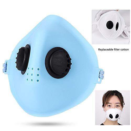 WGIRL Silicone Facial Appareil respiratoire sécurité Visage Shields, Coussin de Gel de Silicone pièce faciale,Noir