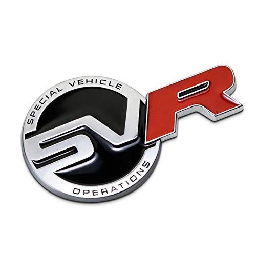 SVR Logo Stemmi Emblemi Car Body Rear Tail Trunk Hood Adesivo per Auto Anteriore per L-And Rover Range Rover