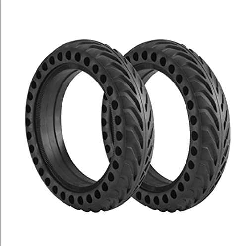 HZWDD 2 Pcs Llanta Reemplazo Neumático, 8,5 Pulgadas Neumáticos de Reemplazo Rueda Macizas para Scooter Eléctrico M365, Neumáticos sin Inflación, Negro