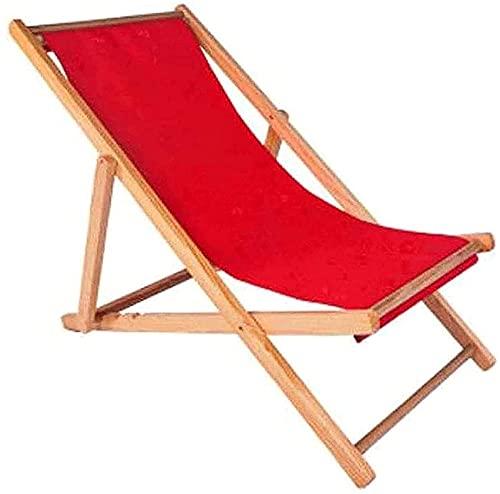 Silla reclinable Silla portátil reclinable plegable, plegable reclinable silla portátil cero silla de gravedad sol tumbona madera plegable silla de cubierta para jardín tumbona silla reclinable silla