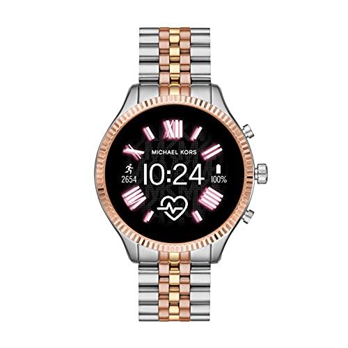 Michael Kors Smartwatch Pantalla táctil para Mujer de Connected con Correa en Acero Inoxidable MKT5080