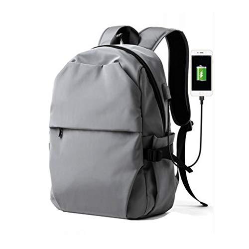 Laptop Bag Travel Laptop Backpack with USB Charging Port for Women & Men School College Students Backpack Fits 15.6 Inch Laptop,Black Messenger & Shoulder Bags (Color : Gray)