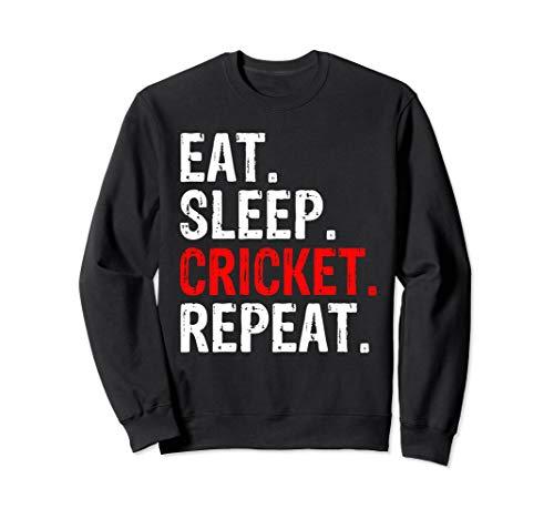 Eat Sleep Cricket Repeat Gift Sports Sweatshirt