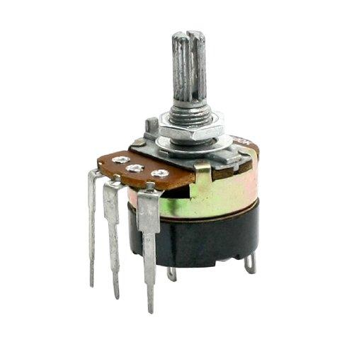 Sourcingmap a13120900ux0114 - Tipo b 500k ohmios 3 pines variable de carbono interruptor sola vuelta potenciómetro