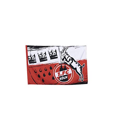 1. FC Köln Fahne/Hissfahne 100 x 150 ** Wappen ** 2 Ösen