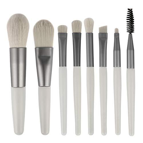 Poignée En Bois Pinceau De Maquillage Fondation Eye Shadow Brush Set 8 Pièces Pour Les Outils Quotidiens Beauté Du Visage,2