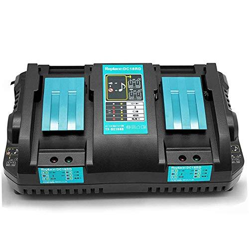 LDR Cargador rápido doble 4A DC18RD de repuesto para Makita 14V-18V Li-ion Cargador de batería