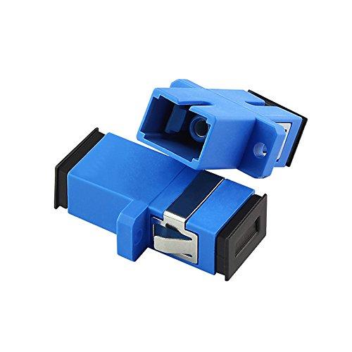 Jeirdus Lot de 10 coupleurs de fibre optique OS1 OS2 SC/SC vers SC Simplex femelle vers femelle - Mode unique SC-SC - Lot de 10