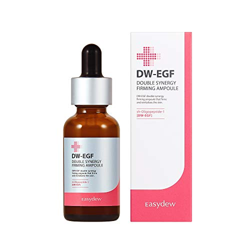 Easydew DW-EGF Double Synergy Firming Ampoule 1.01 fl oz - Award-Winning Anti Aging Ampoule with Human Epidermal Growth Factor - Produce Collagen to Rejuvenate & Regenerate Cells Gift for Her