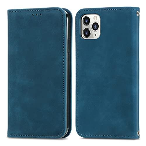 Teléfono Flip Funda Shell Flip Wallet Funda para iPhone 11 Pro Max (6.1 '), cubierta de cuero de cierre magnético con portada de la protección de las ranuras del soporte de la tarjeta Funda protectora