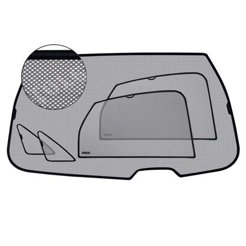 Laitovo Parasole compatibile con Mitsubishi ASX 2010 – 2 finestre laterali + 2 lati bagagliaio + 1 grande finestra per bagagliaio