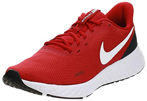 Nike Revolution 5, Zapatillas de Atletismo para Hombre, Rojo/Blanco (Gym Red/White/Black 600), 44 EU