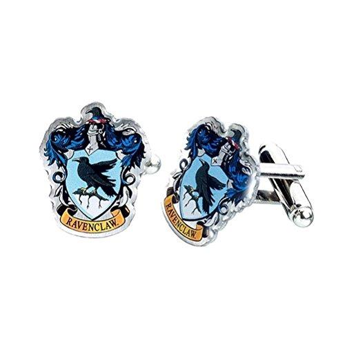 Harry Potter Hogwarts Ravenclaw Wappen Silber vergoldete Manschettenknöpfe - Boxed