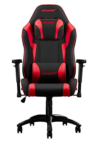 AKRacing Chair Core EXSE Gaming Stuhl, Stoff/Kunstleder, Rot, One Size