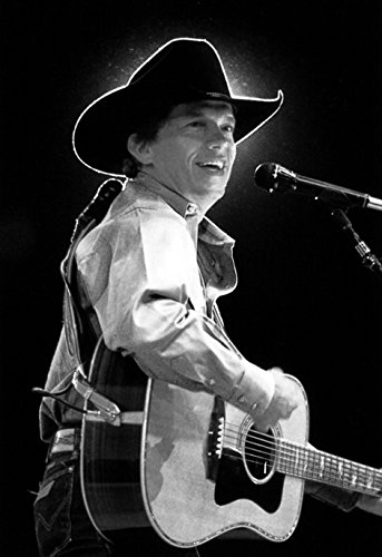 George Strait Poster, the King of Country, Wearing a Cowboy Hat, Live in Concert