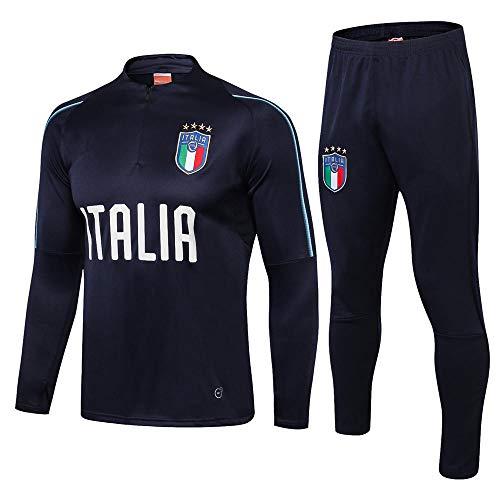 ZuanShiDaHeng Sportbekleidung Langarmanzug Sportbekleidung Halber Reißverschluss Fußball Fitness Trainingsanzug @ 1_M