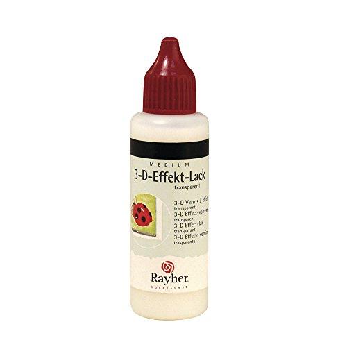 Rayher 38628000 3-D Effekt-Lack auf Wasserbasis, Flasche 50ml