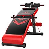 Best Folding Workout Benches - Red Folding Sit up Bench Slant Board Pro Review