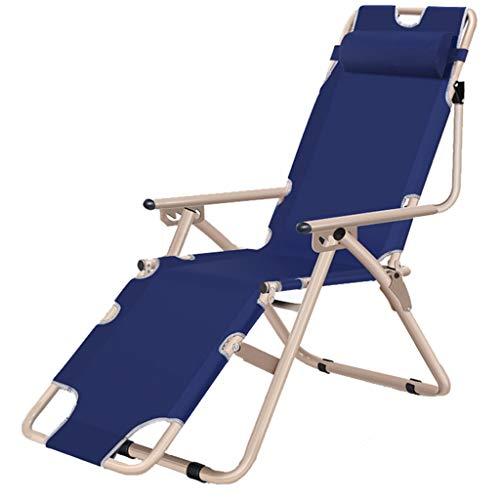 Chaise de terrasse de repos extérieure Chaises de terrasse inclinable pliante réglable en tissu Oxford pour piscine de véranda (Couleur : Chair)