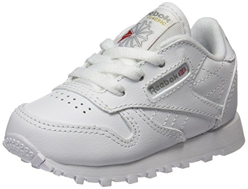 Reebok Classic Leather Zapatillas de trail running Unisex bebé, Marfil ( White 1), 24 EU