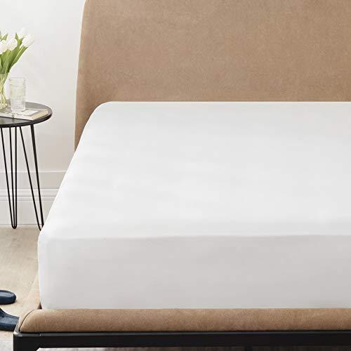 BEDSURE Spannbettlaken 180x200cm Boxspringbett Topper - Mikrofaser Bettlaken 180x200 cm weiß für Matratze bis 30 cm hohe, weiches Spannbetttuch Leintuch