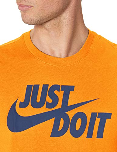 Nike NSW Camiseta de manga corta Just Do It Swoosh para hombre - AR5006, Sportswear Just Do It Swoosh - playera, XL, Cerámica brillante/Azul marino medianoche