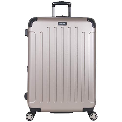 "Kenneth Cole Reaction Renegade 28"" Lightweight Hardside Expandable 8-Wheel Spinner Checked-Size Luggage, Champagne, inch"