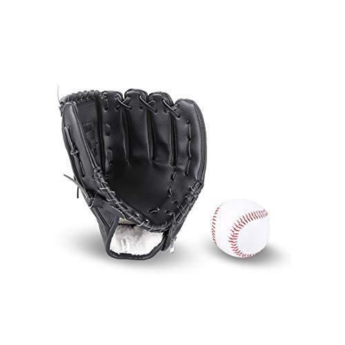JunFeng Baseball-Handschuh für Kinder und Erwachsene mit 1 weichen Ball, PU-Leder-Baseballhandschuh, 26,7 cm und 31,8 cm Schlagfang-Trainingsset