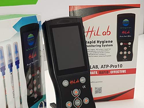 HiLab-ATP Pro-10, sistema de monitoreo rápido de higiene, medidor ATP, sistema de detección de bacterias de limpieza y contaminación microbiana, luminómetro